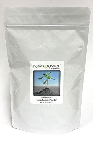 Hemp Protein Powder, Raw Power (16 oz, 100% raw, premium)