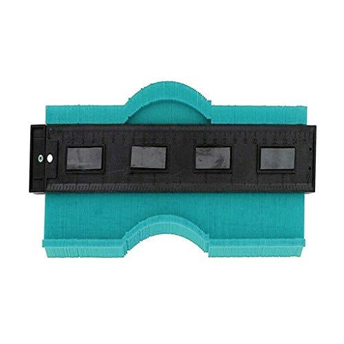 Snlaevx 9.8 Zoll/250MM Konturenlehre, Kontur Messgerät Profil Messgerät Duplizierer Kopieren Irregulär Formen Duplikator zum Übertragen von Konturen & Schnittverläufen (Grün)