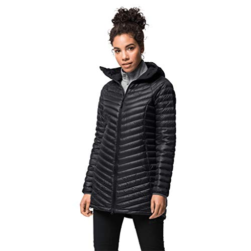 Jack Wolfskin Damen ATMOSPHERE COAT W winddichter Daunenmantel, black, XS