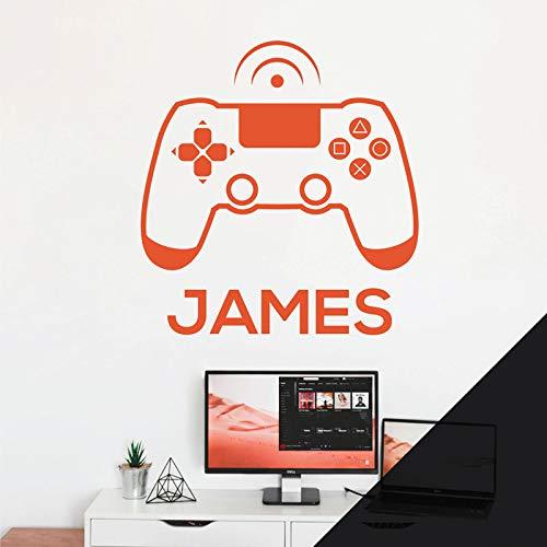 Wandaufkleber für Spielkonsole, Game Controller, Xbox, Playstation personalisierbar, Schwarz