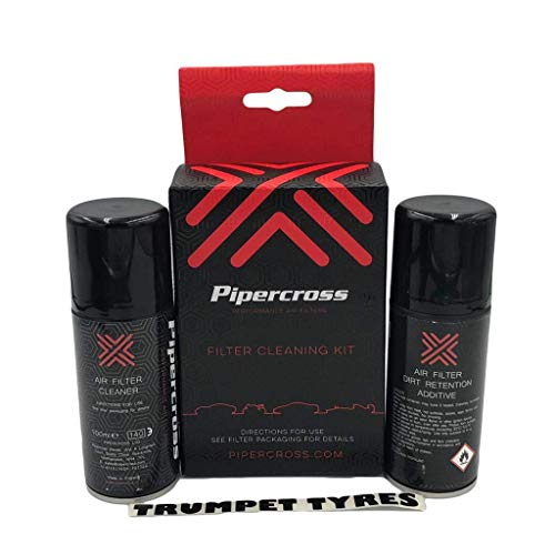 Pipercross Performance Air Filter Cleaning Kit Dirt Retention Oil & Cleaner...