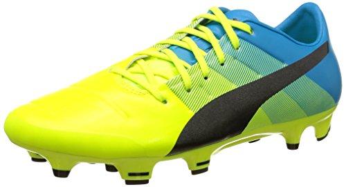 Puma Herren evoPOWER 2.3 FG Fußballschuhe, Gelb (Safety Yellow-Black-Atomic Blue 01), 42