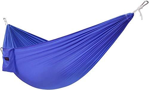 GFSDGF Hamaca Ligera para Acampar Individual con Bolsa de Transporte - Hamaca Tipo paracaídas de Nailon/Hamaca portátil Ligera para Acampar