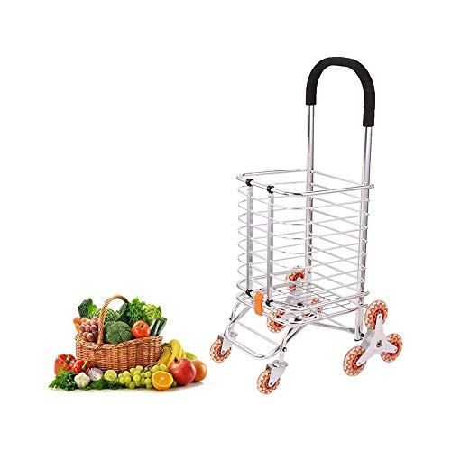 WJMLS DREI Räder Einkaufswagen Treppensteigen Folding Lebensmittel Haushaltskleinwagen Elderly Tragbarer