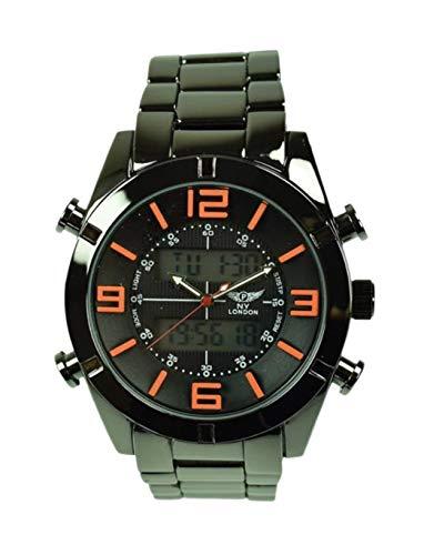 NY London Hombres Reloj Pulsera Fecha Hora Cronógrafo