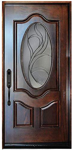 """36""""X80"""" Exterior Front Entry Door Single Door Right Hand in-Swing Prehung Door Wood-Glass"""