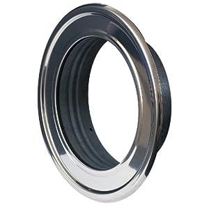 Roseta de pared, 150mm de diámetro, 15cm, brida RMN cromada inoxidable, tubería de aluminio flexible, acero inoxidable resistente al calor