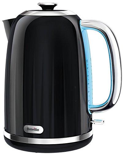 Breville VKJ991X Style Wasserkocher / schnelle Siedezeiten / Entnehmbarer und abwaschbarer Kalkfilter / 1.7 l / 2400W / schwarz