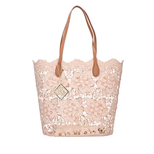 CAFéNOIR DV0001 borsa donna shopping bag in pizzo rosa