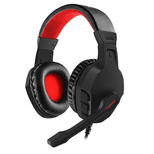 NUBWO U3 3.5mm Gaming Headset for PC, PS4, Laptop, Xbox One, Mac, iPad, Nintendo Switch Games, Computer Game Gamer Over Ear Flexible Microphone Volume Control with Mic (Renewed)