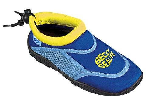 BECO Unisex Kinder Sealife Surfschuhe, Strandschuhe, Wattschuhe Surf und Badeschuhe, Blau, 30/31