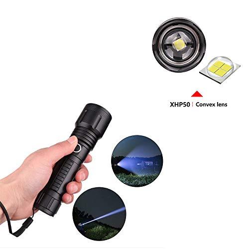 Linterna de camping a prueba de agua con zoom USB, 90000 lú