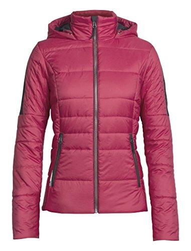 Icebreaker Damen Stratus X Hooded Jacket Jacke, Wild Rose/Jet Hthr, M