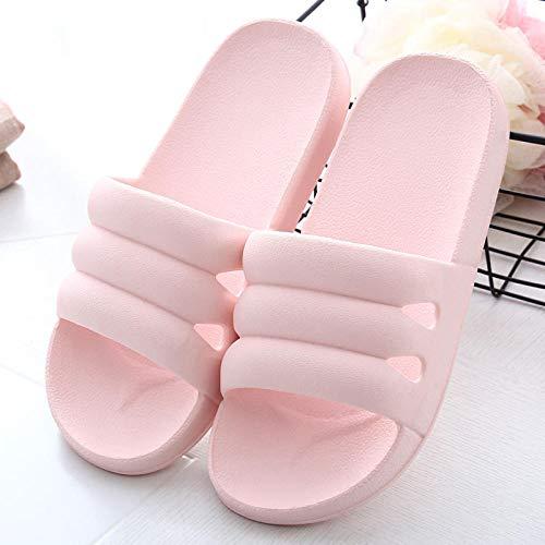 ypyrhh Ergonomische Flip-Flops Zehentrenner, rutschfeste Badezimmer-Hausschuhe für Zuhause, Deodorant, Massage-Slipper, Pink, 39–40