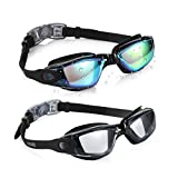 Aegend Swim Goggles, 2 Pack Swimming Goggles No Leaking Anti Fog Adult Men Women