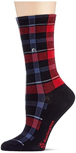 Burlington Damen Modular Check W SO Socken, Schwarz (Black 3000), 36-41 (UK 3.5-7 Ι US 6-9.5)