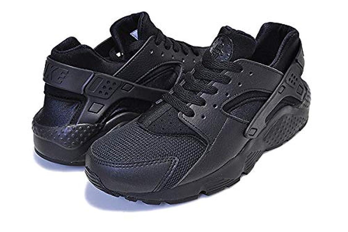 マットレス物足りない決して[ナイキ] スニーカー エア ハラチ レディース HUARACHE RUN(GS) TRIPLE BLACK black/black-black 654275-016 スニーカー ガールズ ウィメンズ ALLBLACK [並行輸入品]
