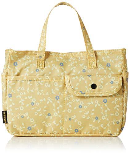 [ハピタス] バッグインバッグ レディース H0008 406花のワルツイエロー