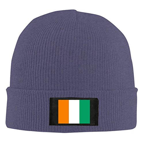 Bandiera Ivory Coast Unisex caldo inverno lana cappello Knit Beanie Skull Cap