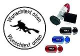 Taucherstempel « TAUCHER 07 » mit persönlichem Namen & Tauchspruch - Abdruckgröße ca. Ø 24 mm...