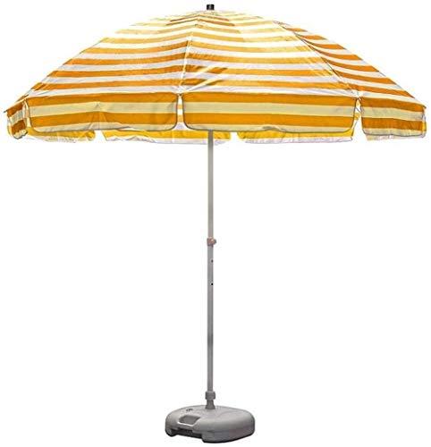 Parasole para Terraza Jardín Playa Balcón Piscina 8.2 Pie de Altas Prestaciones rayas Sombrilla de playa, 8.2' paraguas al aire libre con robusta Polo y 8 costillas, de la playa del jardín del patio