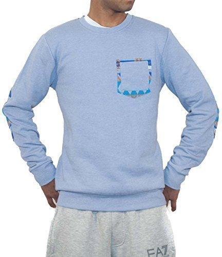 D-Code Grand Chien Spécial par Tokyo Laundry Hommes Garçons Unisexe Pull Col Rond Pull - Bleu, XL
