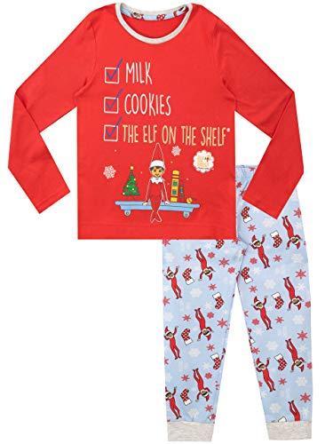 Elf On The Shelf Pijamas de Manga Corta para niñas Navidad Christmas Rojo 2-3 Años
