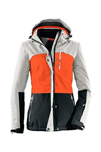 Killtec Skijacke Damen - Winterjacke Damen - Damenjacke sportlich mit Skipasstasche - warme Jacke für den Winter - wasserdicht & atmungsaktiv, Erdbeere, 46