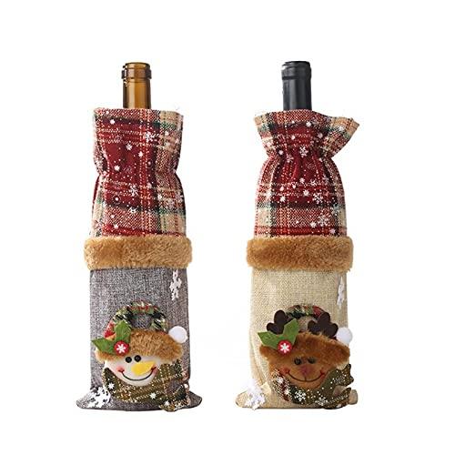 Decorazioni natalizie Borsa da bottiglia del vino di cavatappi di natale Borsa del vino rosso del vino della decorazione del vino del vino della decorazione della decorazione del vino regalo di Natale