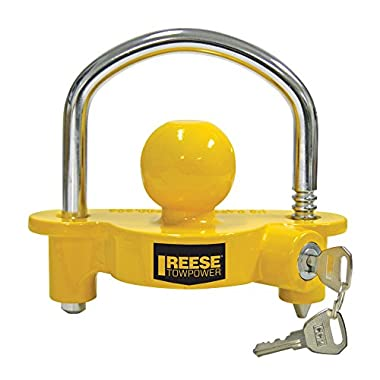 REESE Towpower 72783 Universal Coupler Lock, Adjustable Storage Security, Heavy-Duty Steel