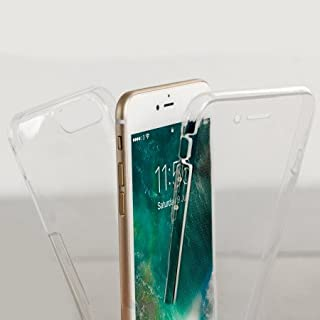 Olixar iPhone 7 Plus 360 Case - Full Cover Case - 360 Degree Full Body Cover - Front + Back Protection - Clear Slim Design - FlexiCover - Wireless Charging Compatible