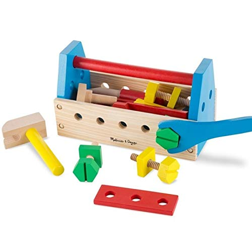Jouet d'imitation caisse à outils en bois 24 pcs écrous boulons enfants 3 ans +