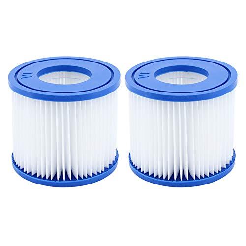 DingGreat Pack de 2 Cartuchos de filtro Bestway VI de repuesto para Lay-Z-Spa Miami, Vegas, Mónaco