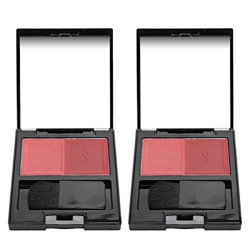 2 Unids Cara Rubor Paleta Maquillaje Blusher Polvo Sombra Dual Color Cosméticos 04 0326