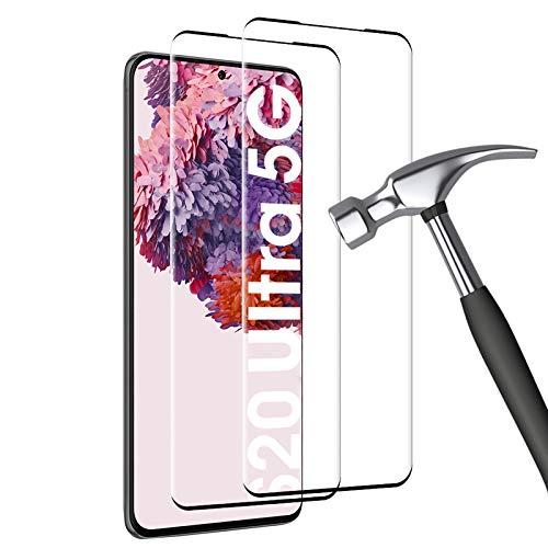 Carantee Panzerglas für Samsung Galaxy S20 Ultra Schutzfolie [2 Stück] Härte 9H, Fallfestigkeit, Kratzfestigkeit, 3D-gebogenen Volle Bedeckung mit Samsung S20 Ultra Panzerglasfolie