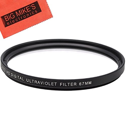 67mm Multi-Coated UV Protective Filter for Canon Rebel T6i, T6s, T7i, EOS 80D, EOS 77D Cameras with Canon EF-S 18-135mm is STM Lens