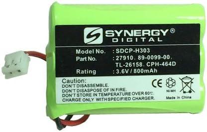 Synergy Digital Cordless Phone Battery, Works with Clarity W425 PRO Cordless Phone, (Ni-MH, 3.6V, 800 mAh) Ultra Hi-Capacity Battery