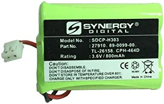 Synergy Digital Cordless Phone Battery, Works with AT&T-Lucent 27910 Cordless Phone, (Ni-MH, 3.6V, 800 mAh) Ultra Hi-Capacity Battery