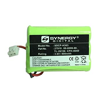 Synergy Digital Cordless Phone Battery Works with AT&T-Lucent 27910 Cordless Phone  Ni-MH 3.6V 800 mAh  Ultra Hi-Capacity Battery