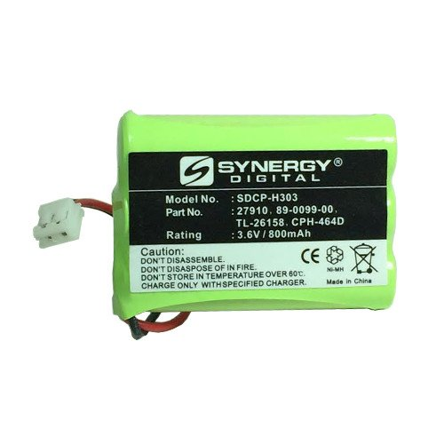 AT&T-Lucent 27910 Cordless Phone Battery Ni-MH 1X3AAA/D, 3.6 Volt, 800 mAh - Ultra Hi-Capacity - Replacement for Rechargeable Battery