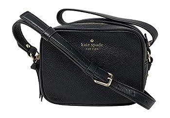 Kate Spade New York Mulberry Street Pyper Pebbled Leather Crossbody Shoulder Bag  Black