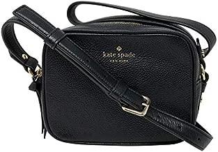 Kate Spade New York Mulberry Street Pyper Pebbled Leather Crossbody Shoulder Bag (Black.)