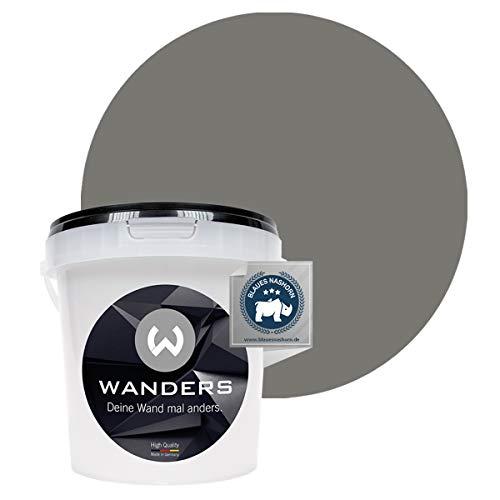 Wanders24® Tafelfarbe (1Liter, Beton-Grau) Blackboard Paint - Tafellack - abwischbare Wandfarbe - in 20 Farbtönen erhältlich - Made in Germany