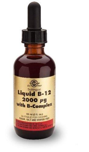 Solgar - Vitamina B12 líquida,2000 ug, con complejo vitamínico B, 59ml