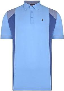 Gabicci-Plain Polo Shirt Avec Contraste Bloc et diamants
