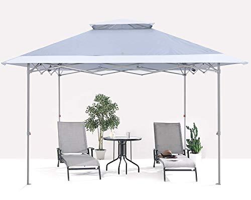 ABCCANOPY 3.6x3.6M Pavillon wasserdicht Pop-Up Gartenpavillon Festival Sonnenschutz,dunkelgrau