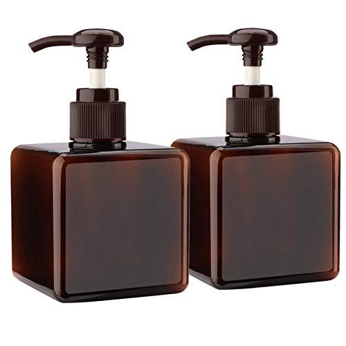 Alledomain - Botellas vacías rellenables de plástico de 250 ml, 2 unidades, marrón (Marrón) - #1 250ml pump bottle