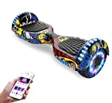 Hoverboards, Bluetooth 6.5 Pouces Self Balancing Scooter Gyropode avec Roues Flash LED E-Scooter z29 (Hip-hop)