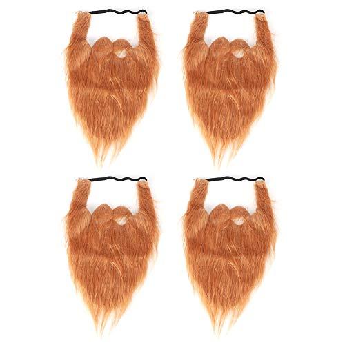 DEWIN Barbas Falsas - Barba de Halloween Barba Navidad Divertido Bigote Falso para Fiesta de Disfraces Suministros de Cosplay Accesorios 4 Piezas