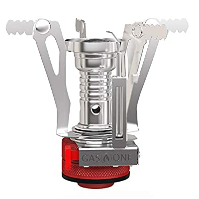 Gas One Backpacking Camping Stove with Carrying Case